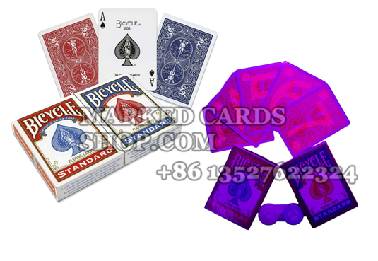 Bicycle marked poker cards for cheating